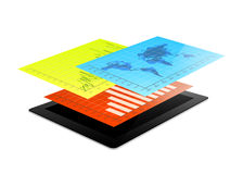 Tablet infographic design Stock Photo