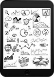 Tablet, Infographic with Icons. Concept - Royalty Free Stock Photos