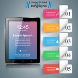 Tablet infographic Smartphone Ikone Lizenzfreie Stockbilder