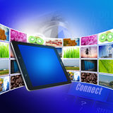 Tablet and internet production technology concept Royalty Free Stock Photography