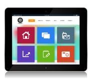 Tablet-Internet-Website stock abbildung