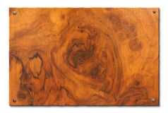 Tablet of knotty wood Royalty Free Stock Photo
