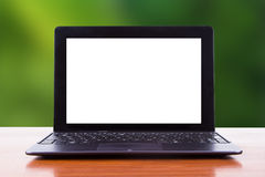 Tablet Laptop with Natural Background Stock Photo