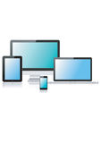 Tablet laptop phone monitor2 Royalty Free Stock Photos
