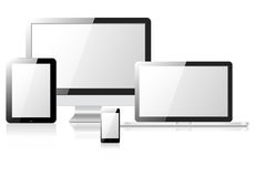 Tablet laptop phone monitor Royalty Free Stock Images