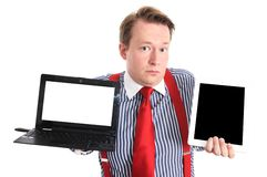 Tablet or laptop Stock Image