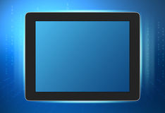 Tablet with a large screen and glow on sides of Royalty Free Stock Photo