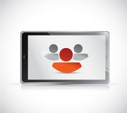 Tablet and leader team concept illustration Royalty Free Stock Photo