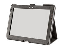 Tablet in a leather case Stock Images