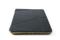Tablet with leather case Stock Photography
