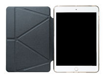 Tablet with leather case Stock Images