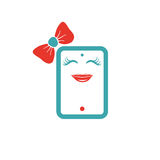 Tablet like a beautiful girl icon vector illustration. Stock Photo