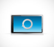 Tablet and loading cycle illustration design Royalty Free Stock Photography