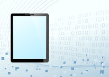 Tablet looking device technology background. Clip-art Royalty Free Stock Photos