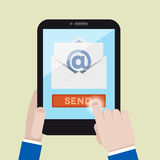 Tablet mail Royalty Free Stock Photography
