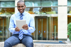 Tablet, make myself comfortable in work Royalty Free Stock Photo