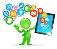 Tablet_man Lizenzfreie Stockfotos