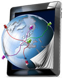 Tablet Map - Gps Navigation Concept Royalty Free Stock Photography