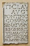 Tablet med latinska bokstäver Royaltyfria Foton