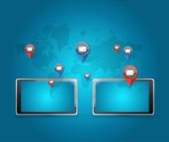 tablet media communication network Royalty Free Stock Photos