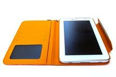 Tablet met geval Stock Foto's