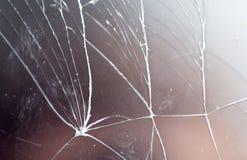 Tablet met het gebroken scherm als achtergrond Stock Afbeelding
