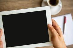 Tablet met het lege scherm Stock Foto