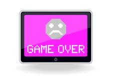 Tablet met spel over pictogram Stock Afbeelding