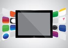 Tablet met toepassing Royalty-vrije Stock Foto