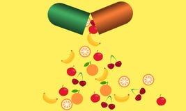 Tablet met vitaminen Royalty-vrije Stock Foto