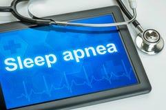 Tablet mit dem Diagnose Schlaf Apnea stock abbildung