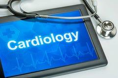 Tablet mit der medizinischen Spezialität Kardiologie lizenzfreies stockfoto
