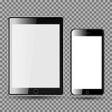 NPhone and Tablet, Blank Screen stock images