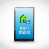 Tablet mobile banking illustration design Royalty Free Stock Photo