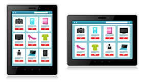 Tablet, Mobile Device, Online Shopping Stock Images