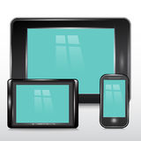 Tablet , Mobile Phone.Vector Royalty Free Stock Photography