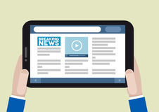 Tablet news Stock Images