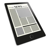 Tablet news Royalty Free Stock Images