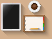 Tablet and notebook Stock Photography