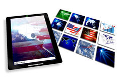 Tablet Notebook and Internet Royalty Free Stock Image