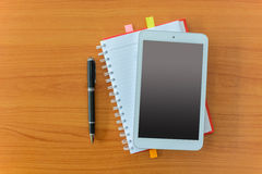 Tablet and notebook Royalty Free Stock Photos
