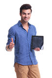 This tablet is ok Royalty Free Stock Photography