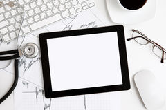Tablet On The Table At The Doctor Royalty Free Stock Images