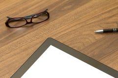 Tablet op Bureaulijst Royalty-vrije Stock Afbeeldingen