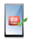 Tablet our choice illustration design Stock Photography