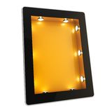 Tablet pad electronic device with backlight screen Stock Image