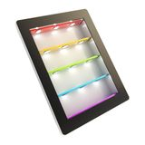 Tablet pad electronic device with backlight screen stock illustration