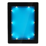 Tablet pad electronic device with backlight screen Stock Photo