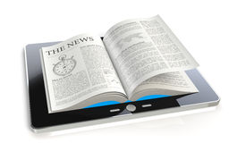 Tablet Pad News. A tablet pad computer with a The News Stock Photos