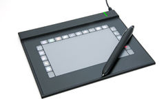 Tablet PC. For drawing on white background Royalty Free Stock Photo
